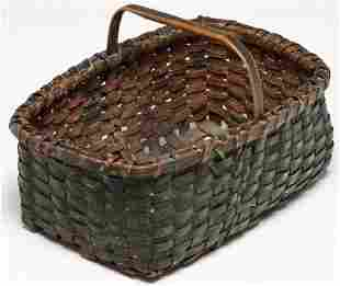 AMERICAN PAINTED SMALL BASKET.