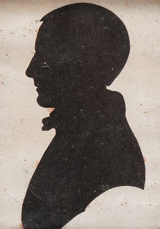 SILHOUETTE OF A BOY.