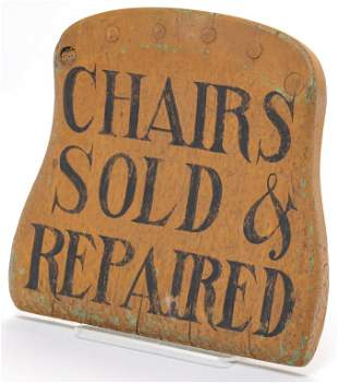 AMERICAN CHAIR TRADE SIGN.
