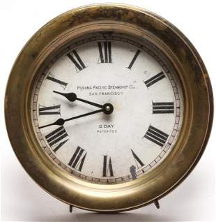 """AMERICAN """"TIME WORKS INC."""" SHIPS CLOCK."""