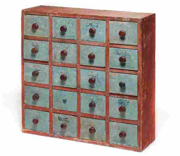 AMERICAN APOTHECARY DRAWERS.