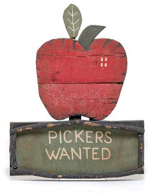 CONTEMPORARY AMERICAN ORCHARD SIGN.