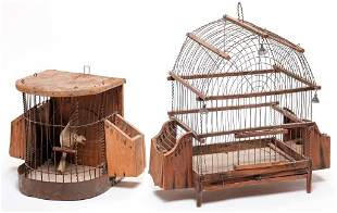 TWO BIRDCAGES.