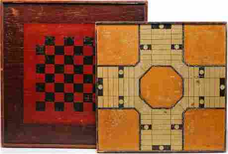 TWO AMERICAN GAMEBOARDS.