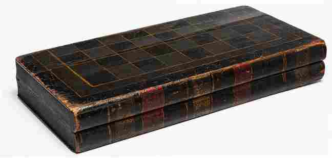 AMERICAN BOOK SHAPED FOLDING GAMEBOARD.