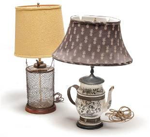 TWO TABLE LAMPS.