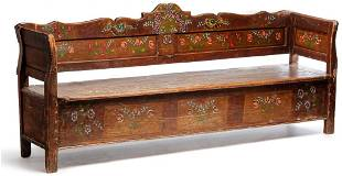 EUROPEAN DECORATED BENCH.