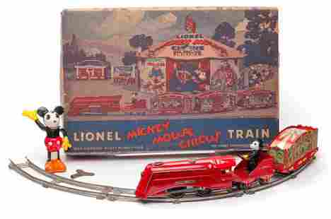 LIONEL MICKEY MOUSE CIRCUS TRAIN SET.
