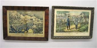 402 TWO HANDCOLORED LITHOGRAPHS BY CURRIER  IVES