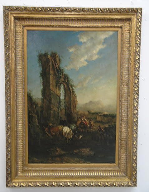 """429: OIL ON CANVAS PAINTING SIGNED """"RIZO"""". Landscape wi"""