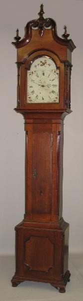 437: CHIPPENDALE TALL CASE CLOCK BY GEORGE WOLTZ OF HAG