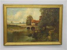 524 OIL ON CANVAS PAINTING BY KINGSLEY European lan