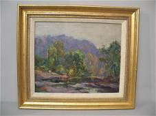 """624: OIL ON ARTIST BOARD PAINTING BY """"CARIANI"""". Landsca"""