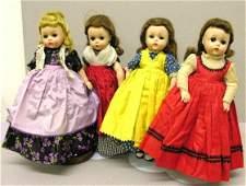 "146: FOUR MADAME ALEXANDER LITTLE WOMEN, 11"". Lissy fac"