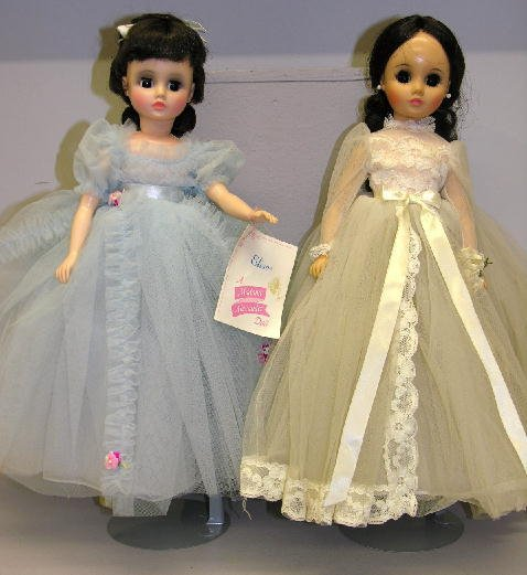 """23: TWO MADAME ALEXANDER DOLLS.  Shown is 17"""" Elise wit"""