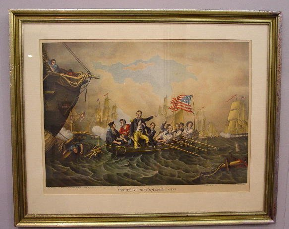 11: LARGE FRAMED CHROMOLITHOGRAPH BY KURZ AND