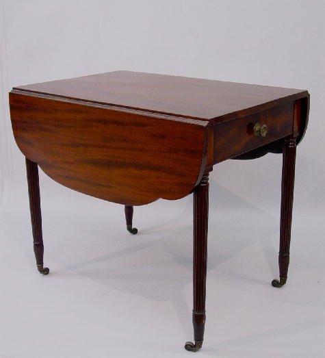 13: SHERATON PEMBROKE TABLE. Refinished mahog