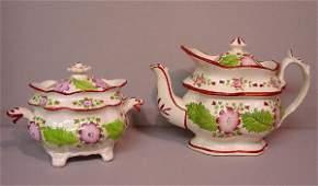 147: EIGHT PIECE SOFT PASTE PRIMROSE TEA SET.