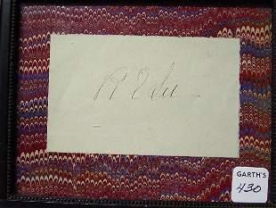 430: FRAMED AUTOGRAPH OF ROBERT E. LEE. Old b