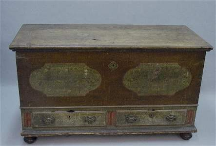 613: PENNSYLVANIA DECORATED TWO-DRAWER BLANKE