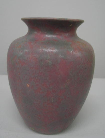 1018: ART POTTERY VASE. Good form with flared mouth, mu