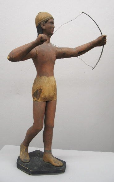 430: LARGE FOLK ART FIGURE. Full-length carved wooden f
