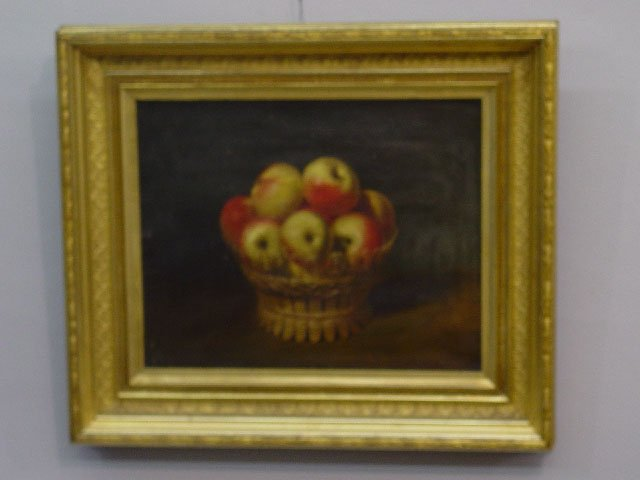 11: FRAMED OIL ON CANVAS STILL LIFE. Realisti