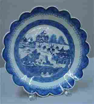 CANTON PLATE. Scalloped edges with medium