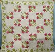 194: APPLIQUE AND TRAPUNTO QUILT. Found in Ch