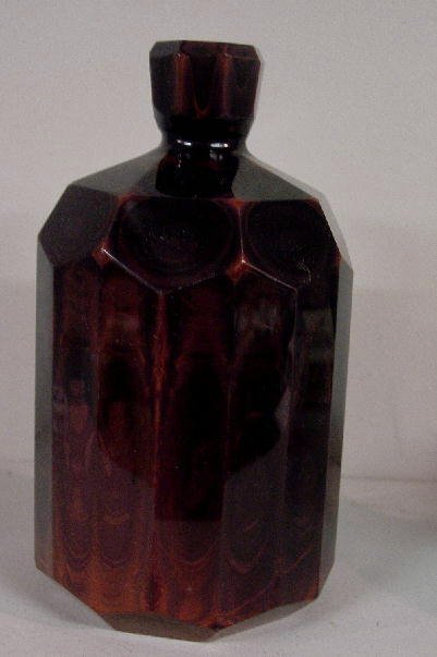 482: LITHYALIN GLASS BOTTLE. Chocolate brown