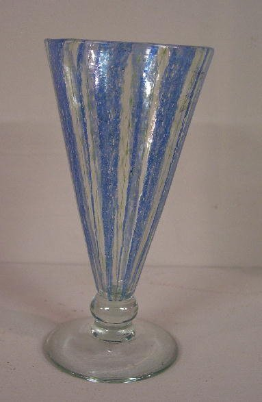 """489: """"NASH"""" GOBLET. Tapered to a knop above a"""