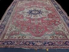 573: ORIENTAL RUG. Room size antique Heriz. D