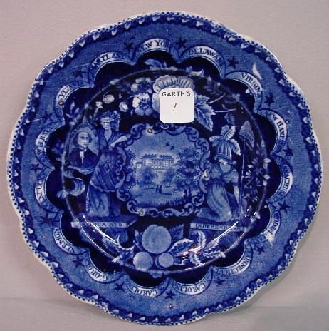 1: HISTORICAL BLUE STAFFORDSHIRE PLATE. State