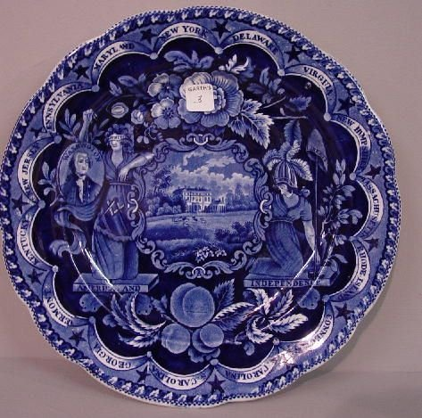 3: HISTORICAL BLUE STAFFORDSHIRE PLATE. State