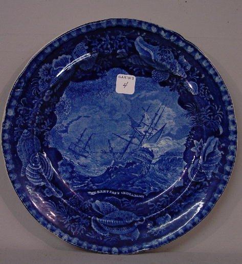 4: HISTORICAL BLUE STAFFORDSHIRE PLATE. Dark
