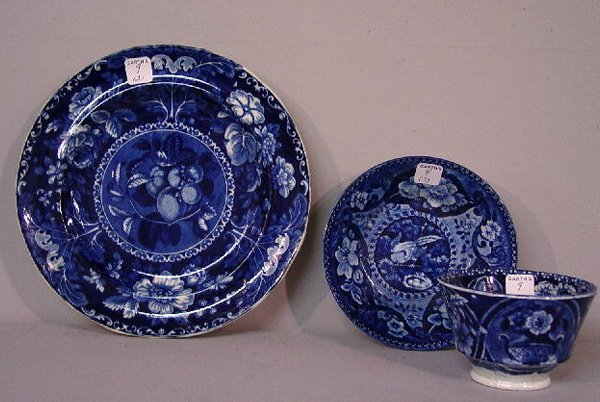 9: TWO PIECES OF HISTORICAL BLUE STAFFORDSHIR