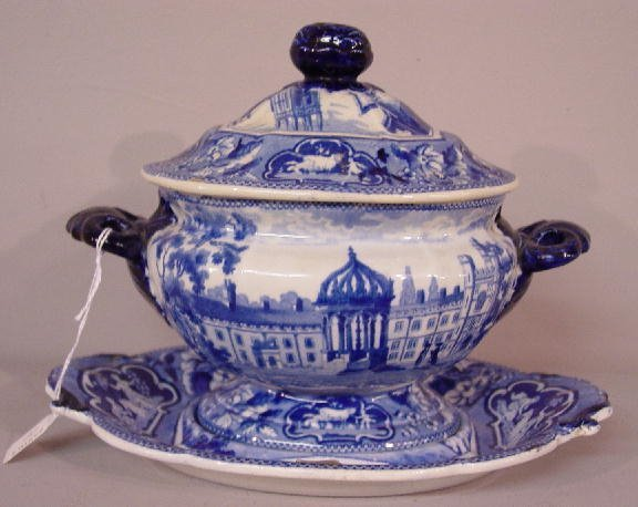 10: SMALL HISTORICAL BLUE STAFFORDSHIRE TUREE