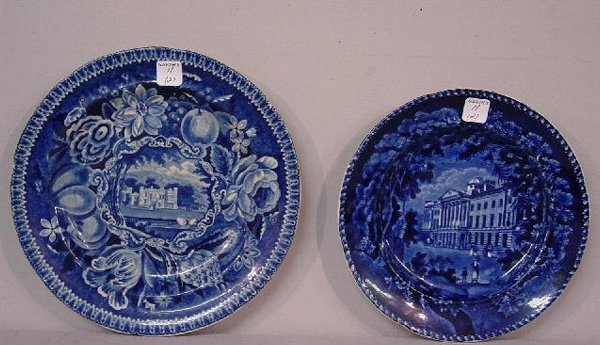 11: TWO HISTORICAL BLUE STAFFORDSHIRE PLATES.