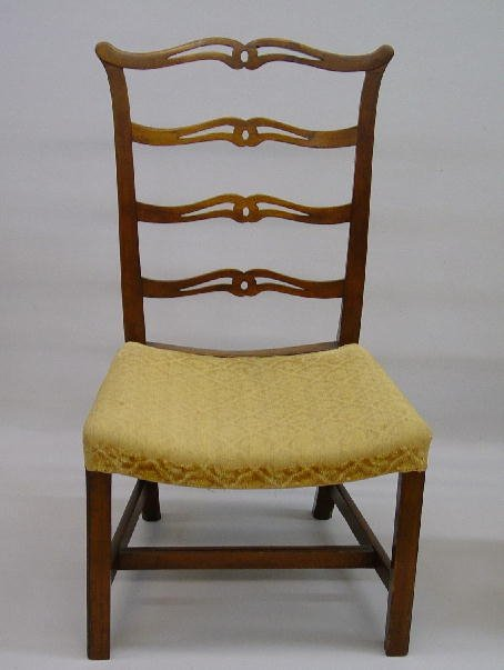 14: CHIPPENDALE RIBBON BACK SIDE CHAIR. Mahog