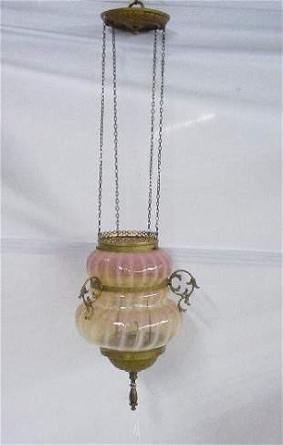 VICTORIAN HALL LIGHT. Hourglass shape, lig