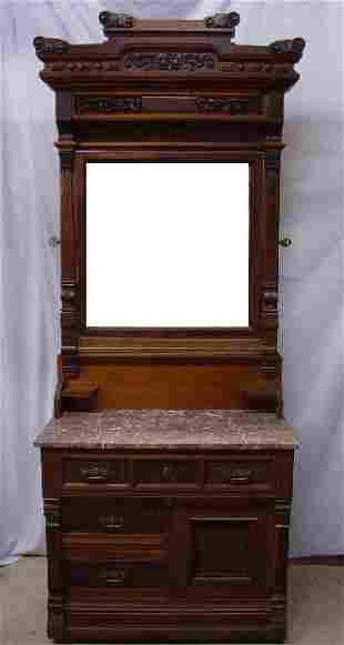 VICTORIAN CHERRY BEDROOM SET. Three piece