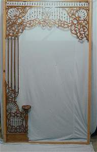 1182: TWO PIECES OF FRETWORK FOR ENTRYWAYS. O
