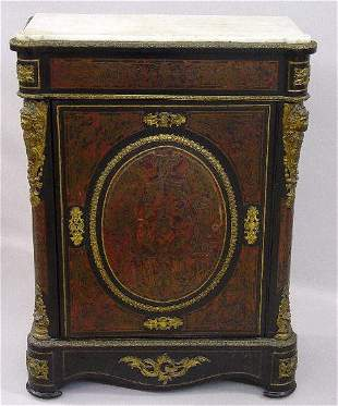 FRENCH STYLE BOULE CABINET WITH ORMOLU DEC