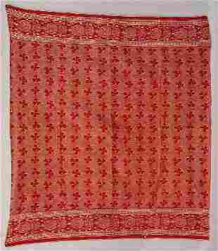 THREE RED LINEN TABLE CLOTHS. All are red