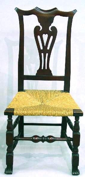 COUNTRY CHIPPENDALE STYLE SIDE CHAIR. Mix