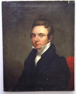 OIL ON CANVAS PORTRAIT OF A GENTLEMAN. Id