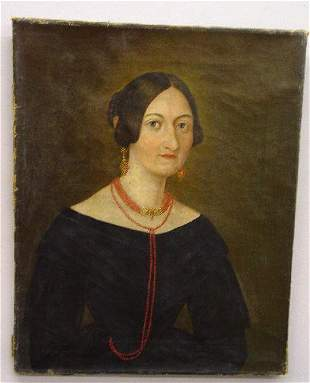 IDENTIFIED OIL ON CANVAS PORTRAIT OF A L