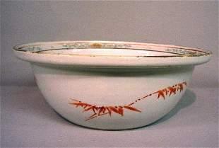 ORIENTAL PORCELAIN BOWL. Deep bowl with