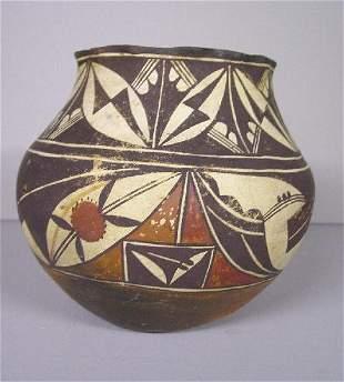 EARLY PUEBLO POTTERY JAR. Fine Acoma or