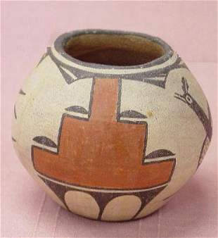 ZIA PUEBLO POTTERY JAR. Polychrome with